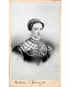 Portrait lithographié de la duchesse d'Etampes (portant diadème)