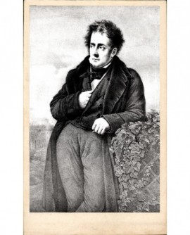 Portrait lithographié de Chateaubriand, main dans son gilet