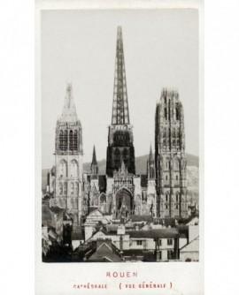 Cathédrale de Rouen (avec tours et flèche métallique d'Alavoins)