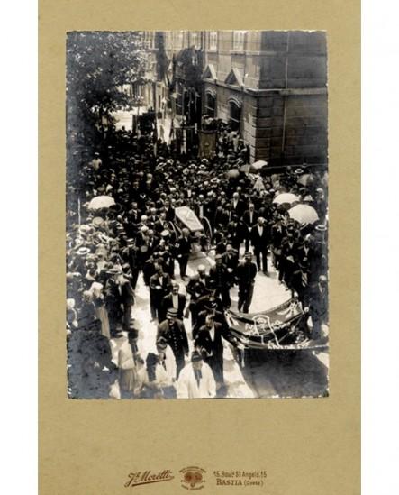 Bastia: enterrement d\'Auguste Gaudin (maire de 1888 à sa mort)