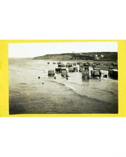 Plage de Heligoland (Baltique) roulottes cabines de bain