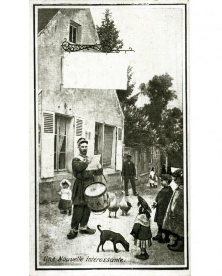 Carte publicitaire (tambour de ville) du photographe E Fafournoux