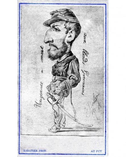 Caricature d\'un militaire de 1870