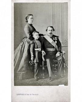 Napoléon III, l\'Impératrice Eugénie et Prince Impérial