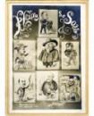 Mosaïque caricatures autoportrait photographe Jean Robert