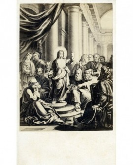 """Image de communion: """"Jésus au milieu des docteurs"""""""