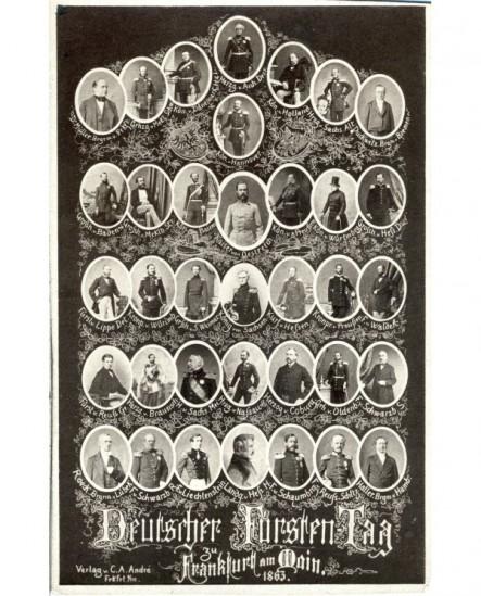 Mosaïque de personnages allemands