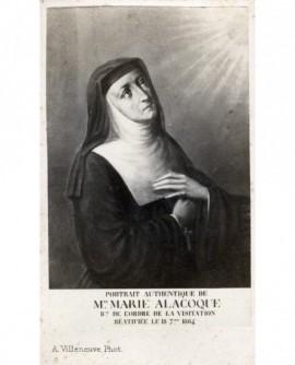Portrait gravé de Marguerite-Marie Alacoque (en extase)