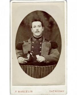 Portrait d'un militaire du 133è, shako et gants (Marius Guibert)