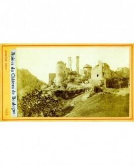 Vue des ruines du château de Boulogne