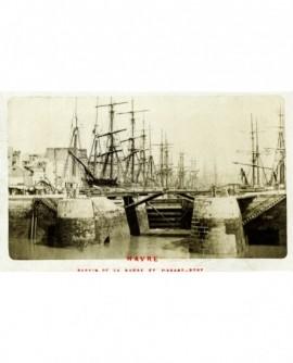 Vue du port du Havre (écluse de la Barre)