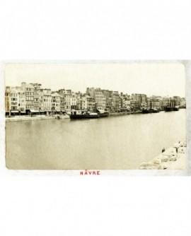 Vue du quai Colbert au Havre à marée haute