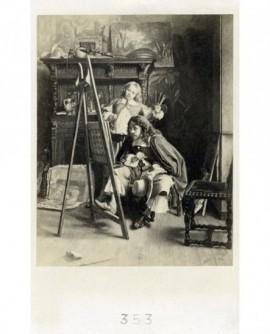Peinture de Lamuter de Caliden: peintre dans son atelier