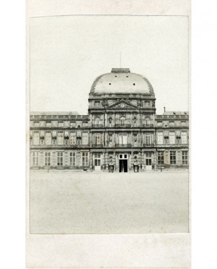Vue du pavillon central du Palais des Tuileries (avant 1871)