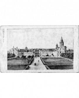 Vue des jardins et de la façade de l'abbaye St Germain des Prés, à Paris