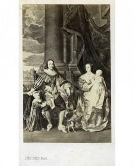 Peinture de Charles 1er et sa famille, par Van Dyck