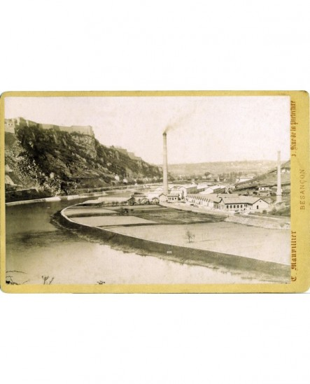 Vue de l' usine de la Rhodioceta à Besançon (lieu-dit Pré-de-Vaux