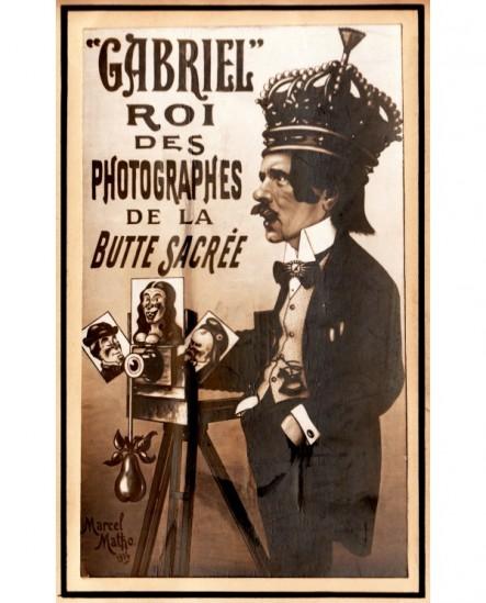 Carte publicitaire et autoportrait photographe Gabriel
