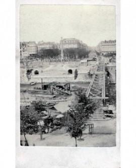 Travaux place du Châtelet (drague sur la Seine)