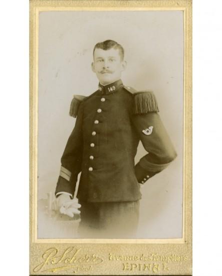 Militaire, caporal-chef du 149ème d\'infanterie de ligne, gants