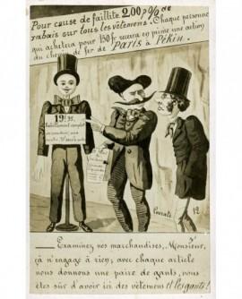 Caricature signée Lavrate contre les rabais publicitaires