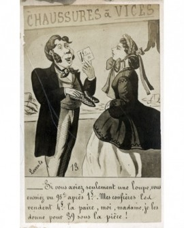 Caricature signée Lavrate contre les rabais stupides