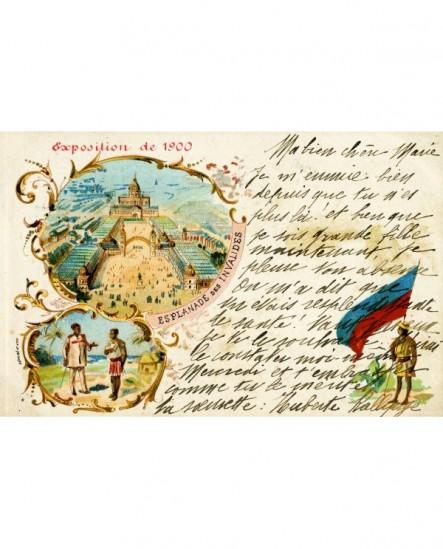 Carte souvenir de l'Exposition de 1900 du photographe Pierre Petit