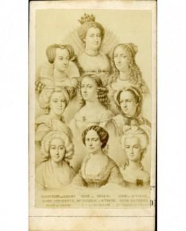 Mosaïque Reines de France, Marie de Médicis à comtesse de Chambord