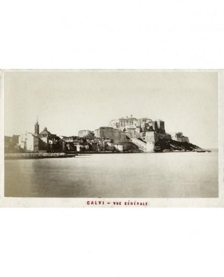 Vue générale de Calvi (avec la citadelle)