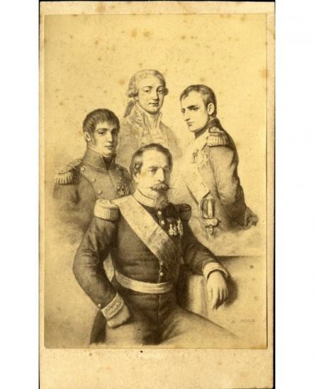 Mosaïque famille Bonaparte (de Charles à Napoléon III)