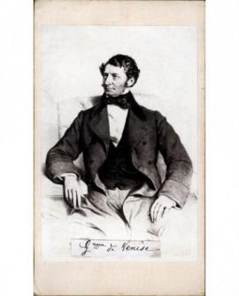 Homme brun assis de profil (M.de Toggenburg)