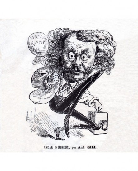 Caricature de Félix Tournachon (Nadar) par André Gill