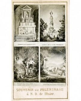 4 gravures Souvenir de Notre-Dame de l'Osier (Isère)