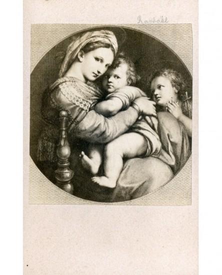 Peinture de Raphaël (Vierge à la chaise)