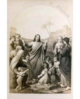 Peinture de Verberck: Christ aux enfants