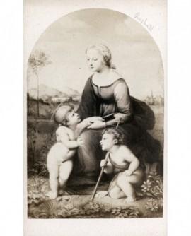 Peinture de Raphaël: Vierge avec Jésus et Jean-Baptiste enfants