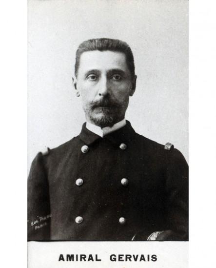 Portrait de l'amiral Gervais. militaire