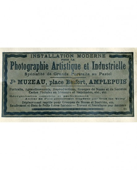 Publicité du photographe Muzeau