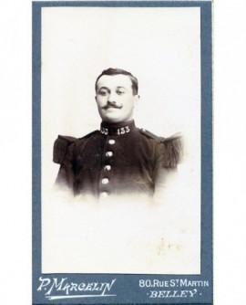 Portrait d'un militaire moustachu du 133ém