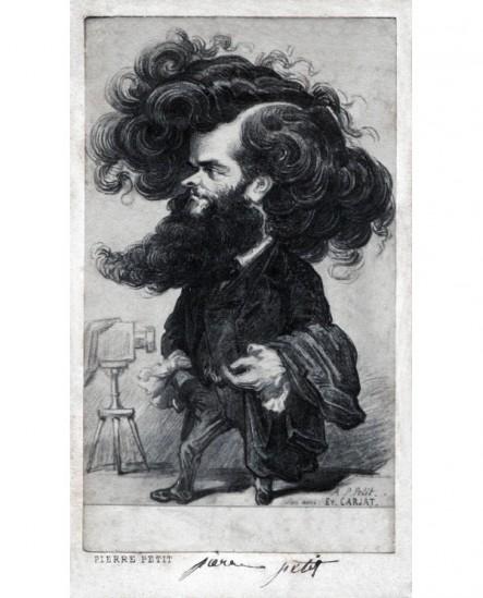 Caricature de Carjat du photographe Pierre Petit