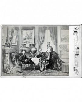 Napoléon III, prinse impérial et impératrice Eugènie