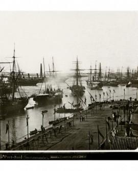 Inauguration canal de Suez. Port-Saïd