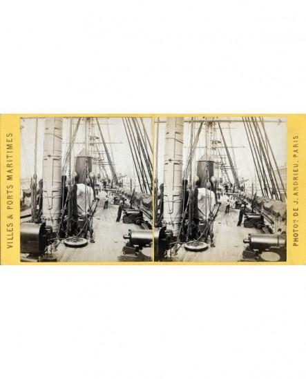 Pont bâbord vaisseau la ville de Nantes (Cherbourg) bateau (a)