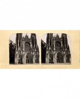 Cathédrale de Saint-Ouen (Rouen) avec fiacre (a)