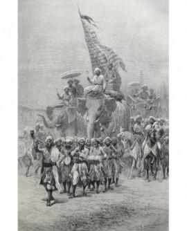 L\'étandard royal dans le grand sowari, à Badora