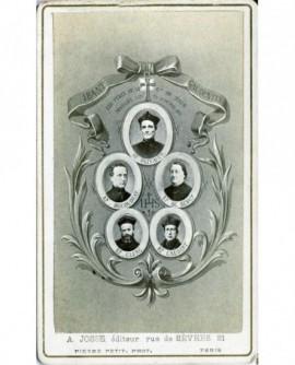 Mosaïque de prêtres fusillés en 1871