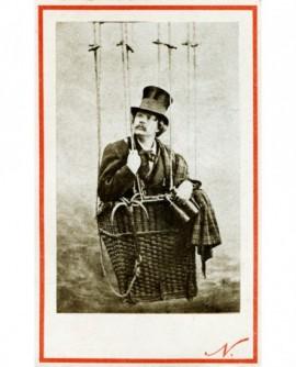 autoportrait de Nadar dans son ballon (Tournachon) nacelle. 1ére version