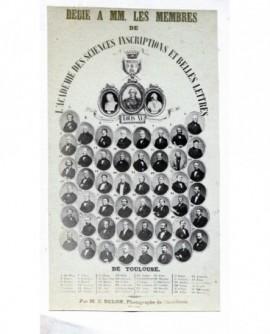 Mosaïque membres de l'Académie des sciences de Toulouse