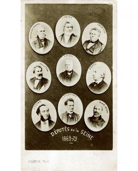 Mosaïque des députés de la Seine en 1869-1875