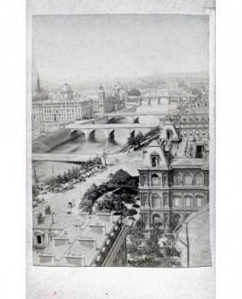 Panorama de Paris. Vue des sept ponts